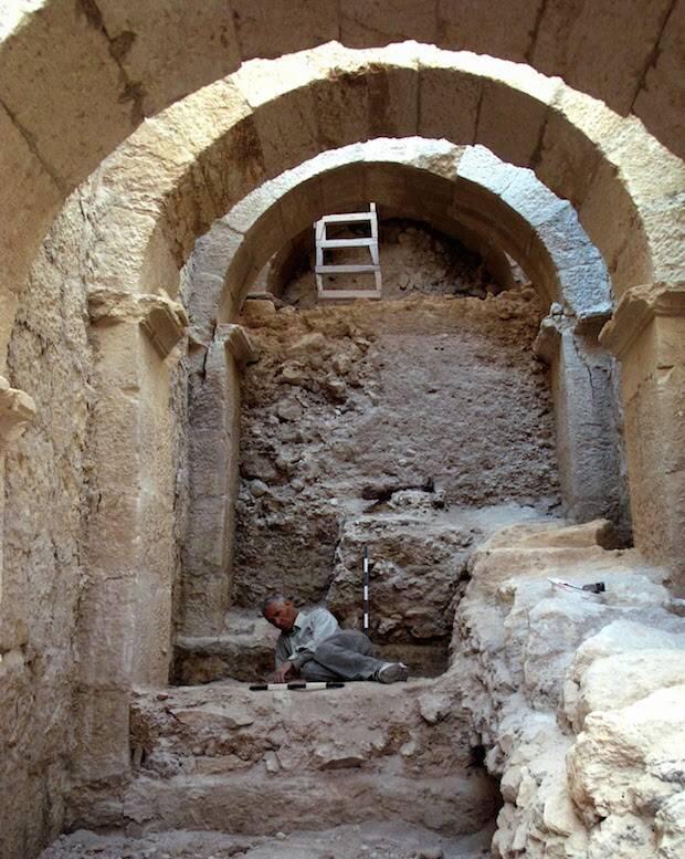 Los arcos descubiertos en el Herodión.,